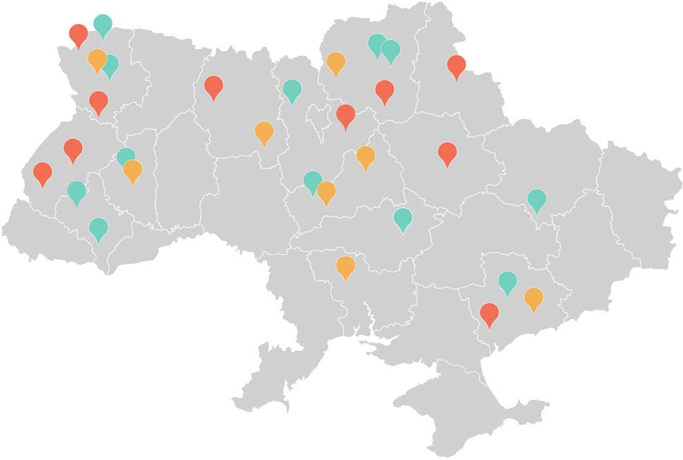 Карта учасникiв
